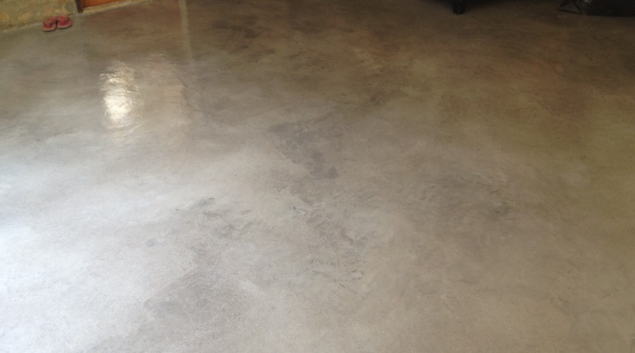 Concrete Overlay over Tile in the San Fernando Valley!