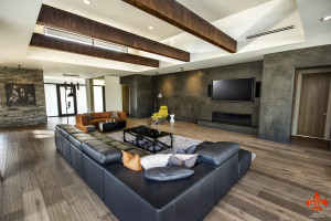 Wood Beams in a Rust Finish