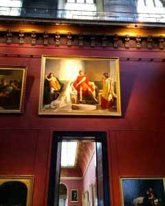 Red Marmarino in the Louvre, Paris France