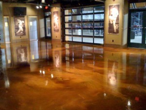 Interior commercial decorative concrete flooring - Reflector flooring